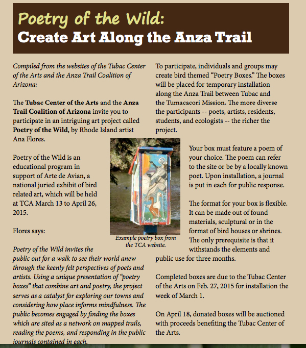 Anza NPS magazine ad